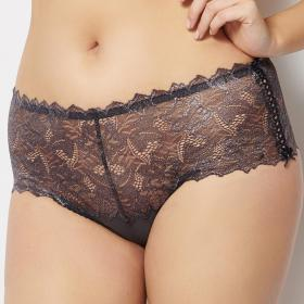 Culotte taille haute Sans Complexe ARUM SHINY taupe Sans Complexe - Culotte/Slip - Lingerie sans complexe grande taille