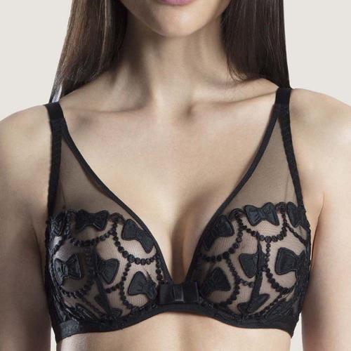 Soutien-gorge triangle plongeant Aubade THE BOW COLLECTION soir