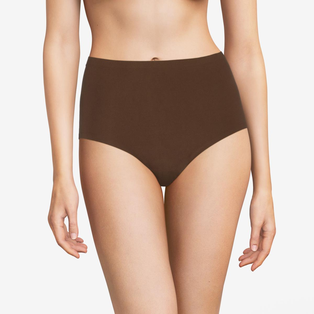 Culotte stretch grande taille Chantelle SOFT STRETCH Marron