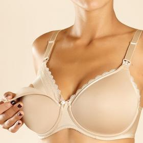 Soutien-gorge d\'allaitement à armatures Chantelle MATERNITE perfect nude - Chantelle 85f