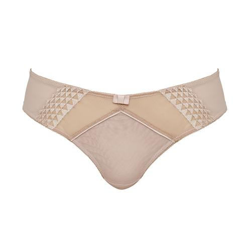 Culotte brésilienne Cleo by Panache ASHER Latte - Lingerie cleo by panache grande taille