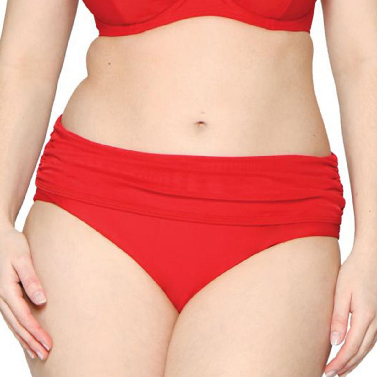 Culotte de bain à revers Curvy Kate Maillot SHEER CLASS red