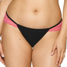 Culotte brésilienne Curvy Kate IN LOVE WITH LACE black pink - Lingerie curvy kate grande taille