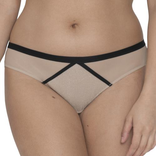 Culotte classique Curvy Kate SPARKS FLY latte/silver - Lingerie curvy kate grande taille