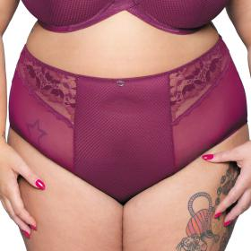 Culotte taille haute Curvy Kate DELIGHTFULL violette - Lingerie curvy kate grande taille
