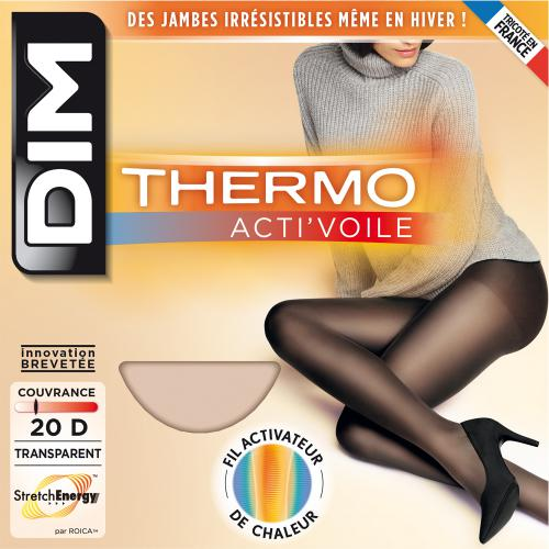 Collant thermo acti'voile Dim Chaussant THERMO noir - Dim chaussant
