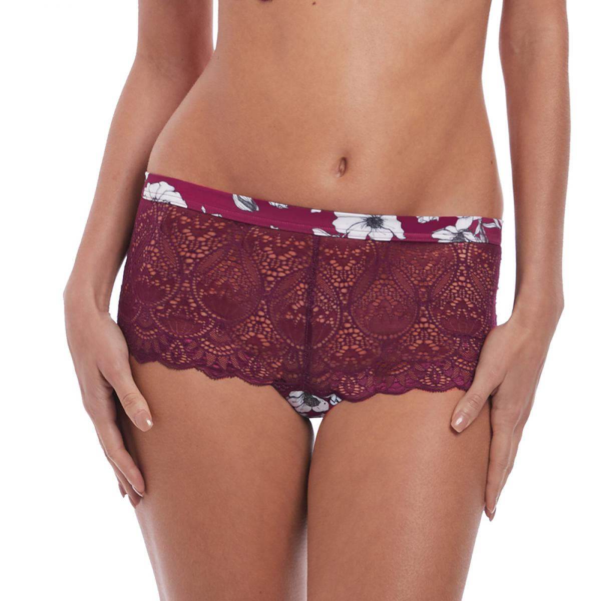 Shorty Fantasie OLIVIA black cherry