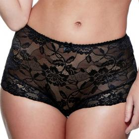 Slip taille haute Charnos ROSALIND black - Lingerie charnos grande taille