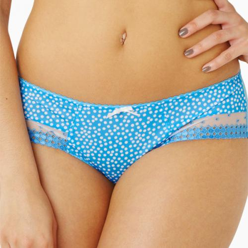 Slip Cleo by Panache MINNIE sky blue spot