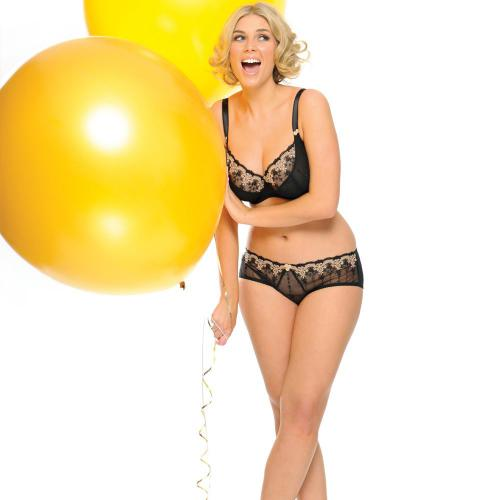 Shorty/Boxer Noir Curvy Kate
