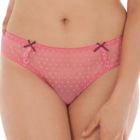 Slip brésilien Curvy Kate PRINCESS rose - Lingerie Bonnets Profonds