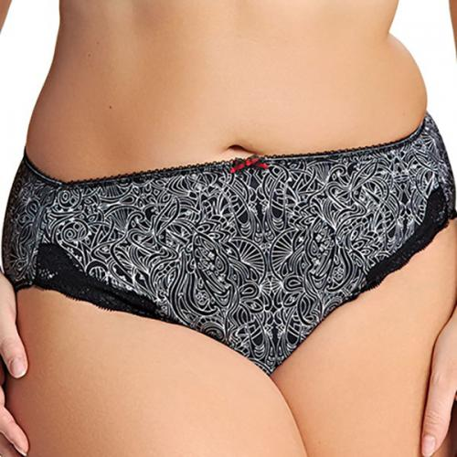 Slip Elomi TRICIA scribble - Lingerie elomi grande taille outlet