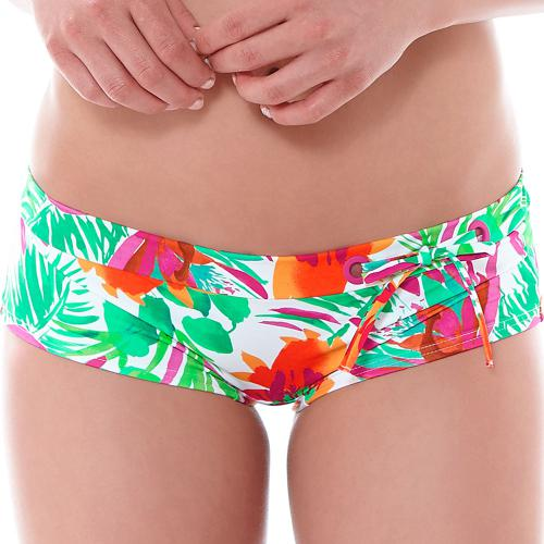 Short de bain Huit 8 FLOWER ADDICT ruby