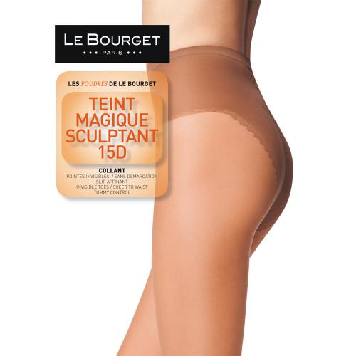 Collant gainant Le Bourget TEINT MAGIQUE SCULPTANT 15D bronzé