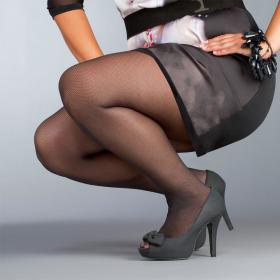 Collant Le Bourget Bellissima RESILLE noir - Collants et bas le bourget