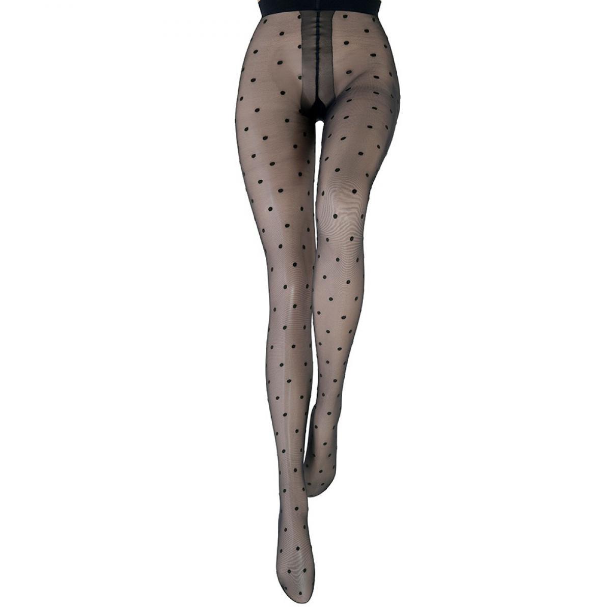 Collant Le Bourget HERITAGE motif pois 20D noir Le Bourget - Fitancy d0e15c8ea2f