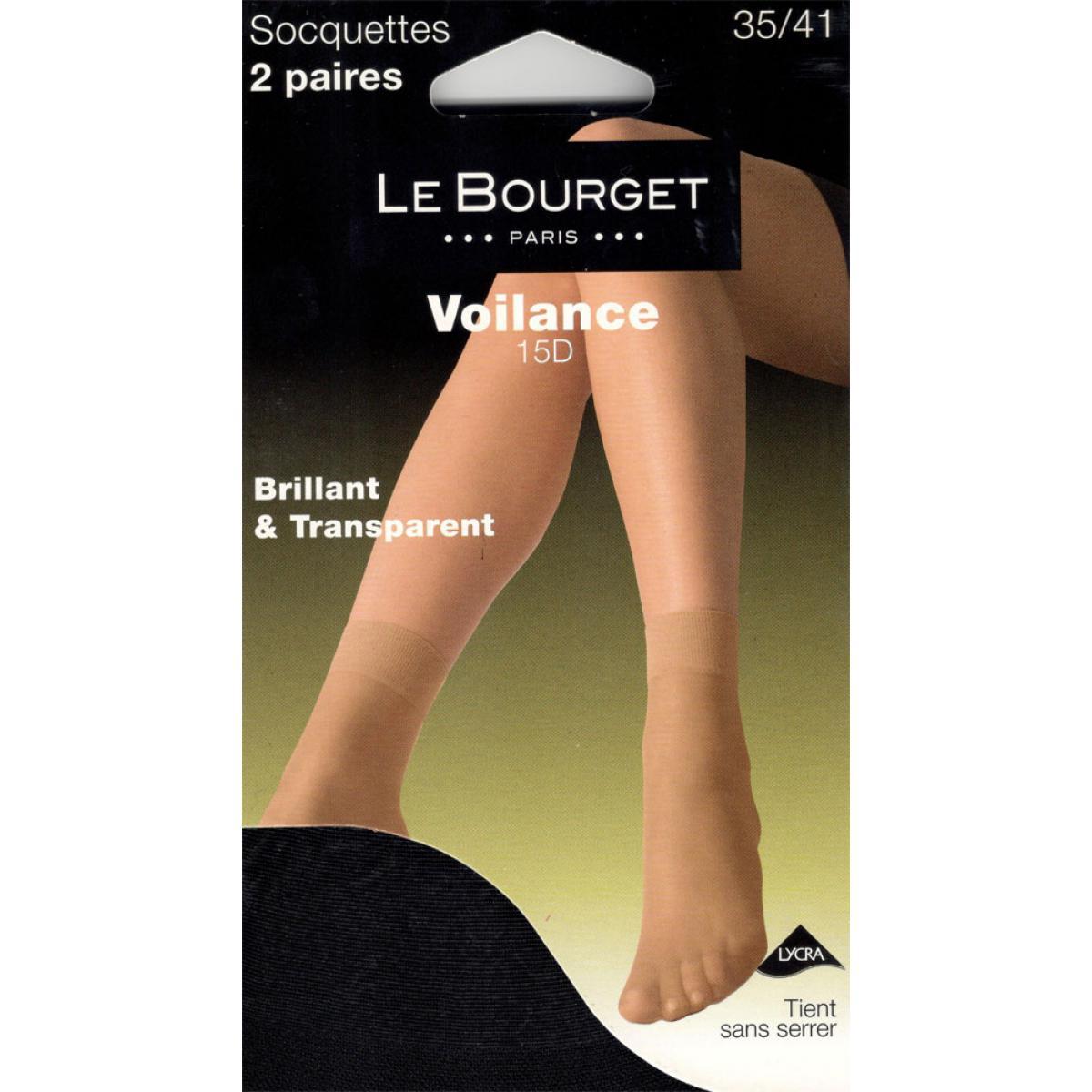 Lot de 2 paires socquettes Le Bourget VOILANCE 15D noir Le Bourget ... aa0434860ae