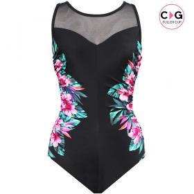 Maillot de bain gainant une pièce Miraclesuit FASCINATION TAHITIAN black Miraclesuit - Maillot 1 pièce gainant - Maillot de bain miraclesuit grande taille