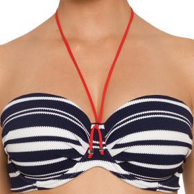 f3556a5e49 Bikini bandeau rembourré bleu Prima Donna Maillot - Maillot de bain bandeau  - Promo maillot de