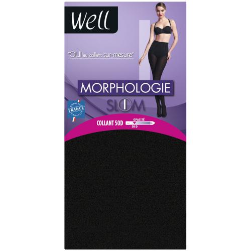 Collant opaque Well MORPHOLOGIE 50D chocolat