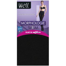 Collant opaque Well MORPHOLOGIE 50D noir - Lingerie grande taille