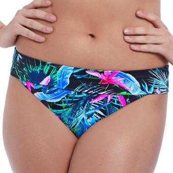 Culotte de bikini taille ajustable Freya Maillots JUNGLE FLOWER black tropical