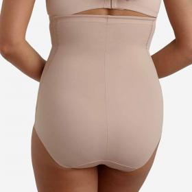 Culotte taille haute gainante FIT AND FIRM nude - Lingerie sculptante