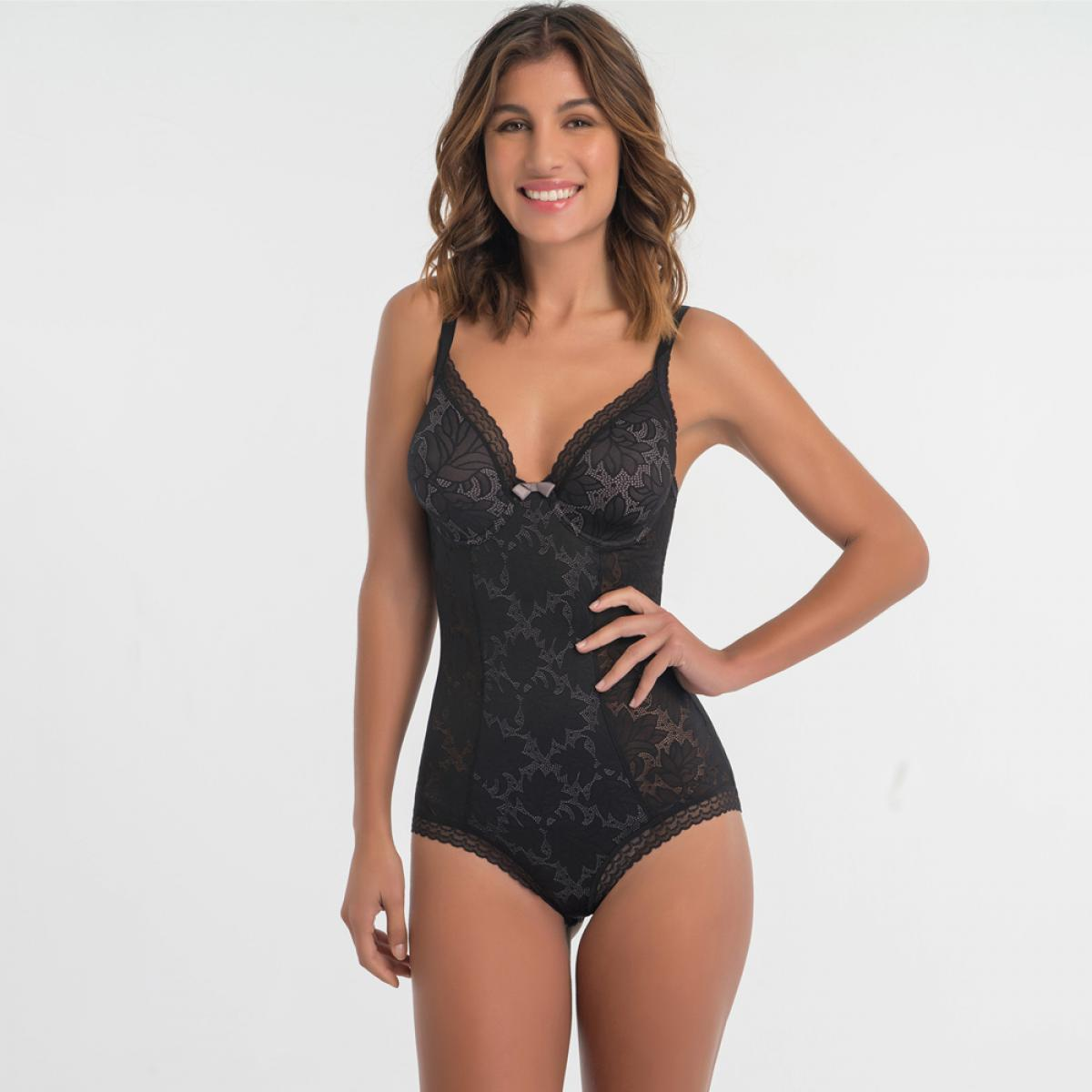 Body Playtex INVISIBLE ELEGANCE noir