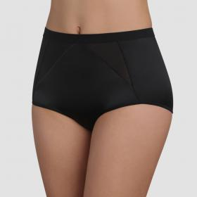 Culotte taille haute Playtex PERFECT SILHOUETTE noire - Lingerie playtex grande taille
