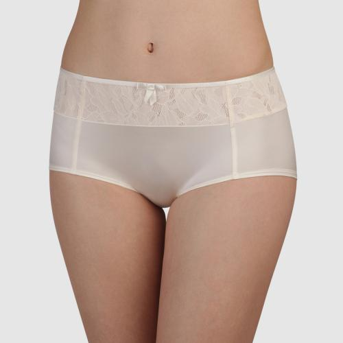 Shorty Playtex IDEAL BEAUTY LACE nacre - Lingerie playtex grande taille