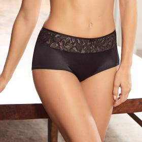 Shorty Playtex IDEAL BEAUTY LACE noir-gris - Lingerie playtex grande taille
