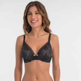 Soutien-gorge emboîtant Playtex INVISIBLE ELEGANCE noir - Lingerie playtex grande taille