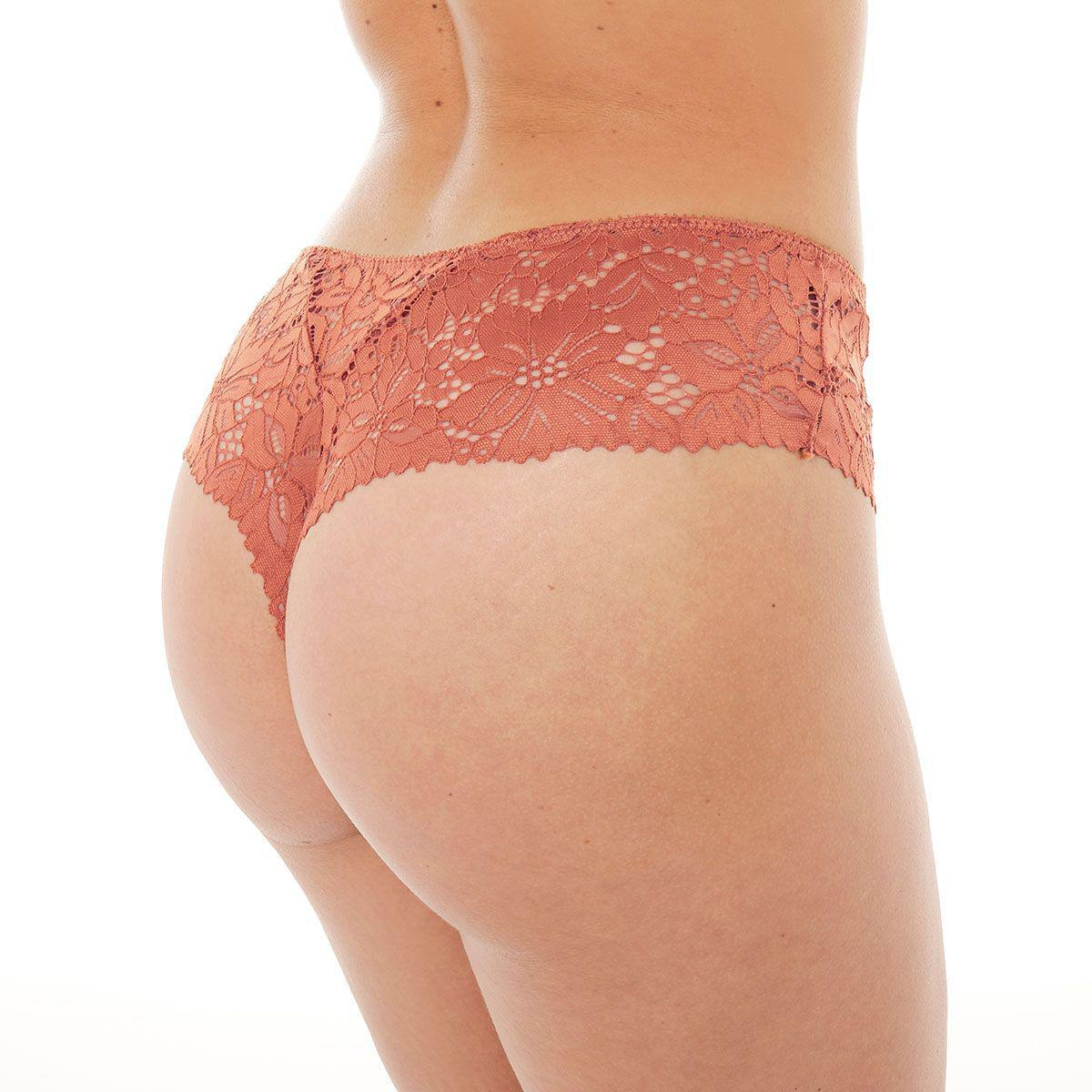 Shorty tanga ACAJOU POMM'POIRE - Marron