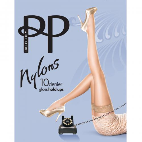 Bas 10D Pretty Polly NYLONS beige - Collants et bas