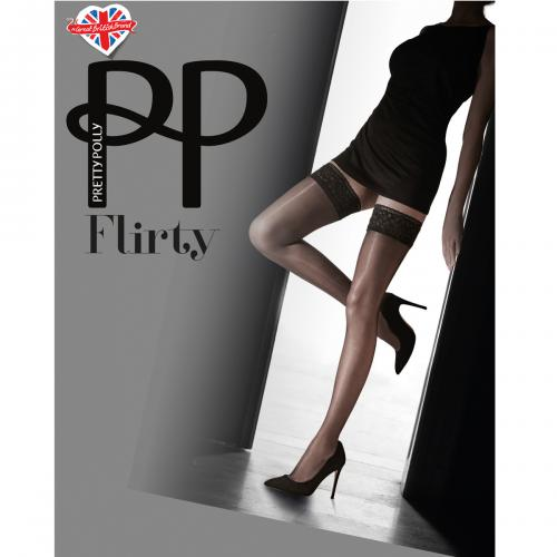 Bas Pretty Polly FLIRTY noirs - Collants et bas