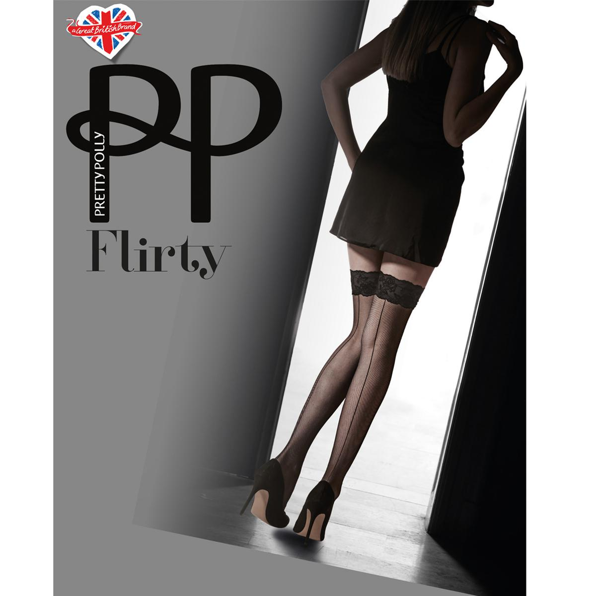 Bas Pretty Polly FLIRTY nude/black