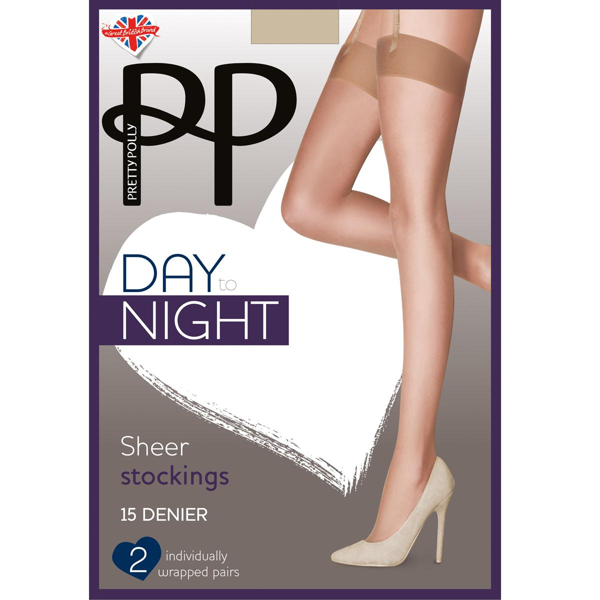 Lot de 2 paires de bas Pretty Polly DAY TO NIGHT beige