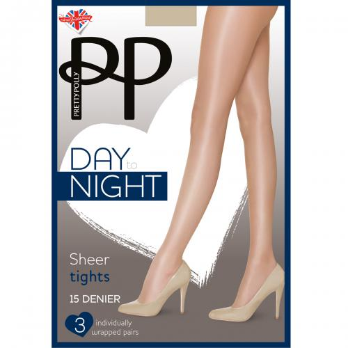 Lot de 3 paires de collants Pretty Polly DAY TO NIGHT beige
