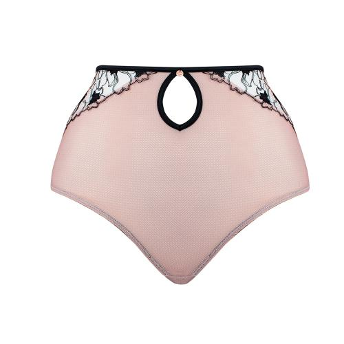 Culotte taille haute Scantilly HEART THROB rose - Lingerie scantilly grande taille outlet