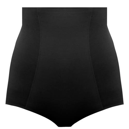 Culotte gainante taille haute Wacoal BEYOND NAKED COTTON black - Lingerie wacoal grande taille